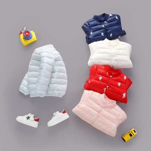 HH Toddler Girls winter coat Children Infant Baby Coat Clothes Boys Cotton Padded Jacket Warm snowsuit kids parka Dropshipping 1