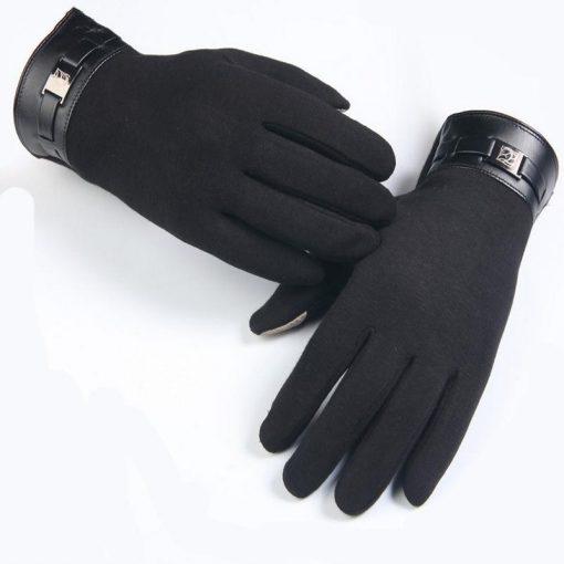 VISNXGI Winter Spring 2018 Fashion Cloth Cotton Wrist Plush Comfortable Soft Feeling Men Touched Mittens Gloves High Quality 3