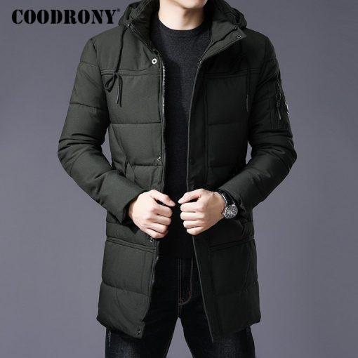 COODRONY Winter Jacket Men Thick Warm Hooded Parka Men Clothes 2018 New Arrival Fashion Casual Long Coat Men Zipper Overcoat 833 1