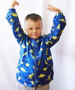 Kids jacket Cartoon Dinosaur Print jacket for boys toddler Girls Outwear Jacket children Hooded Windproof Raincoat windbreaker 1