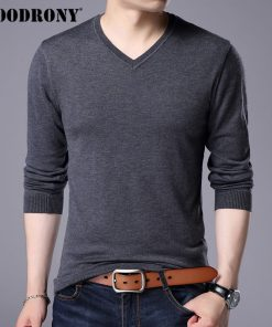 COODRONY Cashmere Sweater Men Brand Clothing 2017 Autumn Winter Thick Warm Wool Sweaters Solid Color V-Neck Pullover Shirts 7153