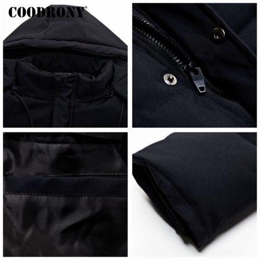 COODRONY Winter Jacket Men Thick Warm Hooded Parka Men Clothes 2018 New Arrival Fashion Casual Long Coat Men Zipper Overcoat 833 4