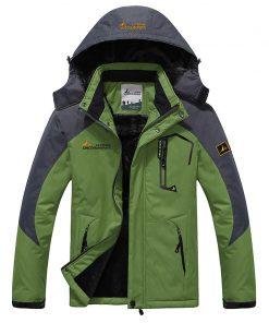 NaranjaSabor 2018 Autumn Winter Mens Jackets Fleece Thick Men's Coat Windbreaker Breathable Waterproof Male Mens Clothing 6XL 1