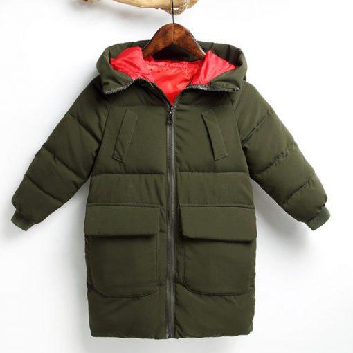 HH Toddler Boy winter jacket coat Hooded Graffiti Camouflage parka girl snowsuit children kids Thick teenage long down jacket  3