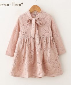 Humor Bear Baby Girls Dresses 2018 New Summer A-Line Lace Lolita Style Princess Dress Children's clothes Party Dress