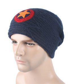 Men Velvet Skullies Knit Hat Bonnet Winter Warm Knitted Wool caps Hats Braid Star Brand Fringe Beanies Male Gorros Carhart M071 1