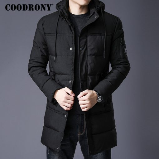 COODRONY Winter Jacket Men Thick Warm Hooded Parka Men Clothes 2018 New Arrival Fashion Casual Long Coat Men Zipper Overcoat 833