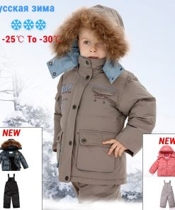 sp-show Winter Coat Hooded Two Piece Children Jacket Girls  Coat Boy Jacket For Girls Parka For 2-6 Age Down & Parkas 911302 1