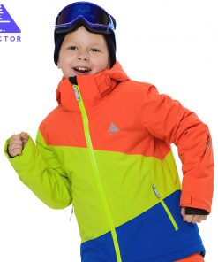 VECTOR Girls Boys Ski Jackets thermal Waterproof Kids Ski Jacket High Quality Children Winter Clothing -30 degree HXF70005