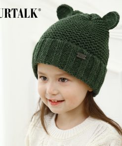 FURTALK children's winter wool knit skullies beanie lovely baby ear hats for girls and boys
