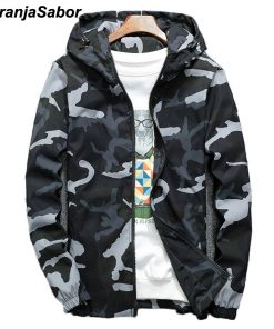 NaranjaSabor Spring Autumn Men's Hooded Jackets Camouflage Military Coats Casual Zipper Male Windbreaker Men Brand Clothing N438 1