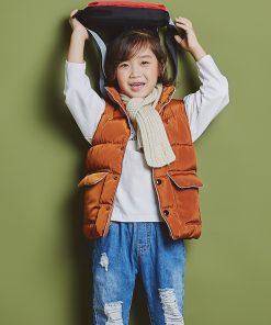 2 6 8years Sleeveless kids vest bodywarmer baby waistcoat girl vest autumn Winter boys vest for children cotton down jacket  1