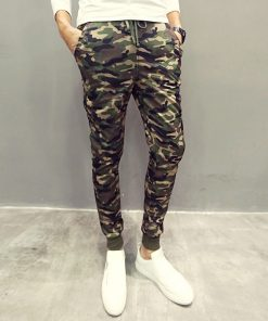 Men Casual Pants New Camouflage Slim Fit Army Camouflage Trousers Pencil Camo Pants Hip Hop Sweatpants Military Mens Joggers 1