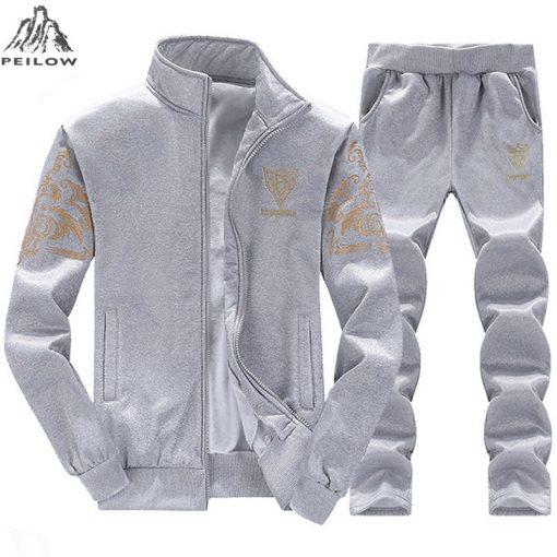 PEILOW new fashion men's sets Spring Autumn Tracksuits Men Sweatshirt Jacket Men's Suits Brand Leisure Sportswear Men's Clothing 2