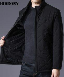 COODRONY Winter Jacket Men Thick Warm Cotton Overcoat Slim Parka Men Clothes 2018 New Business Casual Stand Collar Coat Men 8840 1