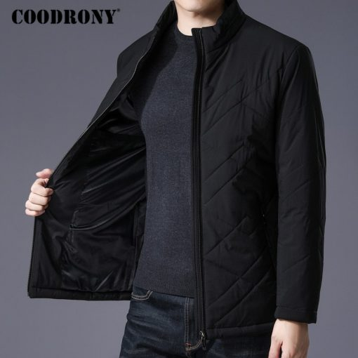 COODRONY Winter Jacket Men Thick Warm Cotton Overcoat Slim Parka Men Clothes 2018 New Business Casual Stand Collar Coat Men 8840 1