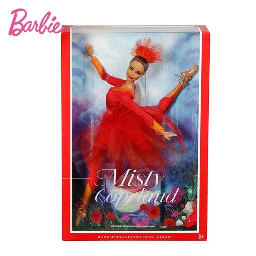 New Original Barbie Doll  Pink Label Actionr Misty Copeland Barbie ColletorToy Girl Birthday Present Girl Toys Gift Boneca DGW41 3