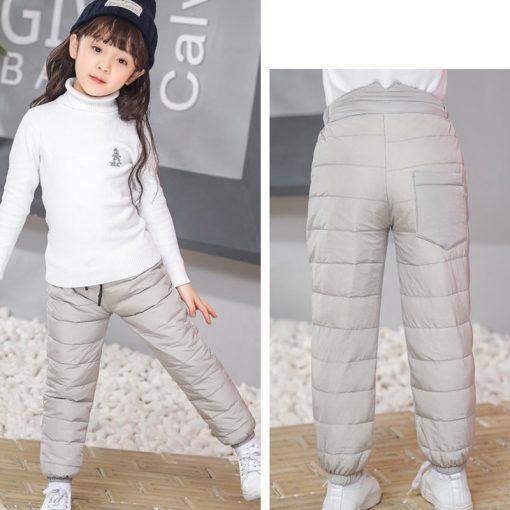 Kids boys pants trousers Duck Down harem pants boys winter pants for girls Kids Elastic Waist Thick trousers Children's Clothes 5