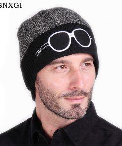 VISNXGI 2018 Beanies Knit Men's Winter Hat Caps Skullies Bonnet Winter Hats For Men Women Beanie Fur Warm Baggy Wool Knitted Hat
