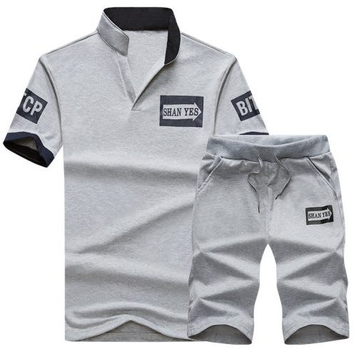 NaranjaSabor Summer Men's Clothing Set Male Boys Clothing Suit Casual Sweatshirt Shorts Pant Men's Brand Clothing Tracksuit 4XL 1