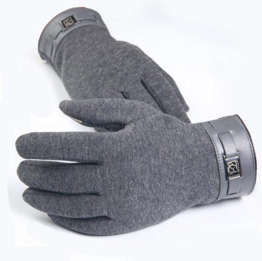 VISNXGI Winter Spring 2018 Fashion Cloth Cotton Wrist Plush Comfortable Soft Feeling Men Touched Mittens Gloves High Quality 1