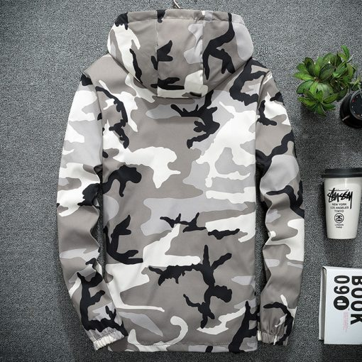NaranjaSabor Spring Autumn Men's Hooded Jackets Camouflage Military Coats Casual Zipper Male Windbreaker Men Brand Clothing N438 3