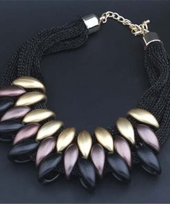 Fashion Charm Statement Necklaces Pendants Vintage Choker Collar Ethnic Black Gold 2018 New Maxi Pendants necklace women jewelry