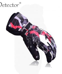 Detector Ski Gloves Snowboard Mens Women Kids Winter Gloves Climbing Cycling High Quality Windproof Waterproof Gloves