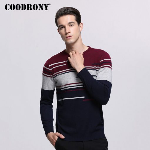 COODRONY Sweater Men Brand Clothing Mens Sweaters For 2018 Autumn Winter Casual O-Neck Pull Homme Cashmere Wool Pullover Men 229 3