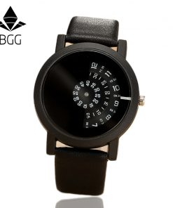 2017 BGG creative design wristwatch camera concept brief simple special digital discs hands fashion quartz watches for men women 1