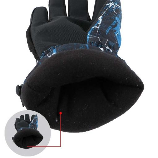 Winter Luvas Men Esquiar Gloves High Quality Doodle Women Hand Warmer Camo Printed Cotton Thickened Male Gloves Waterproof G052 5
