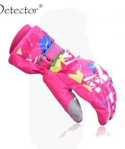 Detector Ski Gloves Snowboard Mens Women Kids Winter Gloves Climbing Cycling High Quality Windproof Waterproof Gloves 1