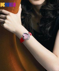 SKMEI Women Fashion Quartz Watch Creative Watches Casual Waterproof Wristwatch Luxury Brand Quartz Watch Ladies Relogio Feminino 1