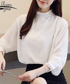autumn casual solid white long sleeve shirt women fashion woman blouses 2018 Chiffon blouse shirt blusas chemise femme 1234 40