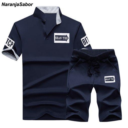 NaranjaSabor Summer Men's Clothing Set Male Boys Clothing Suit Casual Sweatshirt Shorts Pant Men's Brand Clothing Tracksuit 4XL