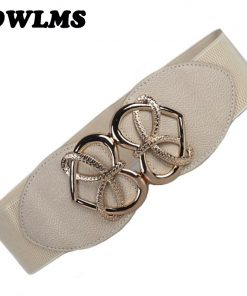 New Fashion Women's Cummerbund HOT gold heart buckle Belt Wide WaistBand Female Leather Cummerbunds for Dresses Beautiful Design