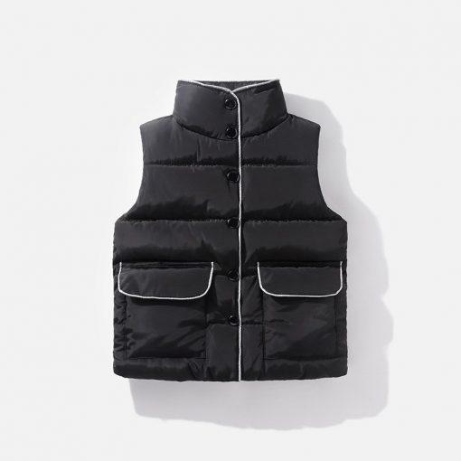 2 6 8years Sleeveless kids vest bodywarmer baby waistcoat girl vest autumn Winter boys vest for children cotton down jacket  3