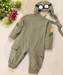 Fashionals Baby Rompers one-piece pilot baby clothes new born boy jumpsuit funny baby girl romper hat two piece outfits costume 1