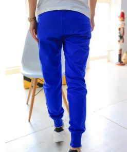 VISNXGI Summer Pants Women Casual Fit Pants Cotton Harem Pants Casual Elastic Waist Pocket Leisure Trousers Plus Size 8 Colors 1