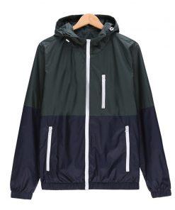 Windbreaker Men Casual Spring Autumn Lightweight Jacket 2018 New Arrival Hooded Contrast Color Zipper up Jackets Outwear Cheap 1