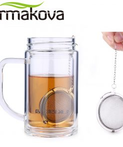 ERMAKOVA 3 Pcs/Lot Stainless Steel 2 Inch Mesh Tea Ball Infuser Tea Strainer Filter with Hook Tea Mesh Ball Filter Tea Infuser