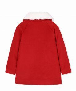 balabala Children Girls Woolen Fashion Coats Autumn Winter Childs Warm Sweet Girl Coats Detachable Collar Clothes For Kid-girl 1