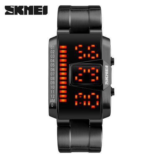 SKMEI Fashion Creative LED Sports Watches Men Top Luxury Brand 5ATM Waterproof Watch Digital Wristwatches Relogio Masculino 1