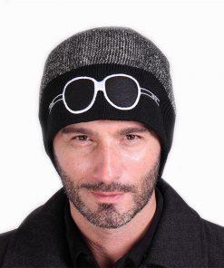 VISNXGI 2018 Beanies Knit Men's Winter Hat Caps Skullies Bonnet Winter Hats For Men Women Beanie Fur Warm Baggy Wool Knitted Hat 1