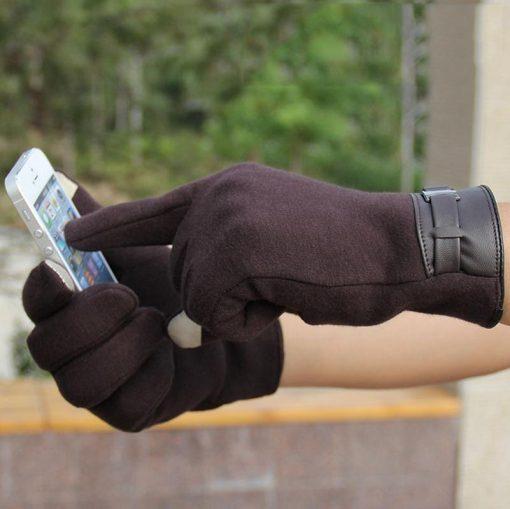 VISNXGI Winter Spring 2018 Fashion Cloth Cotton Wrist Plush Comfortable Soft Feeling Men Touched Mittens Gloves High Quality 5