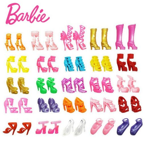 Original Barbie American Gir Andl 20 Pair Shoes With Dolls 4 Style Gymnas Joints Movement Toys For Children The Girl Bonecas 3