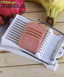 ERMAKOVA Ham Spam Luncheon Meat Slicer Stainless Steel Egg Slicer Banana Pitaya Kiwifruit Cutting Machine Vegetable Fruit Slicer 1