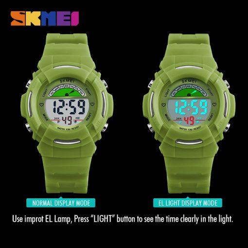 SKMEI New Sports Children Watches Fashion Alarm Watch Kids Back Light Waterproof Boy Digital Wristwatches Girl Relogio Infantil 4