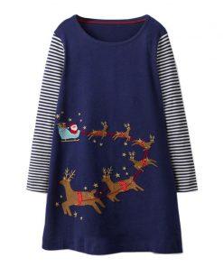 Toddler Girls Dresses Christmas Children Princess Dress for Party Wedding 2018 Autumn Kids Long Sleeve Dress Baby Girl Clothes