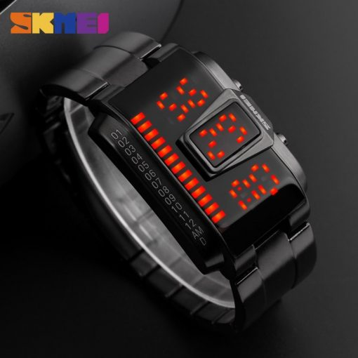 SKMEI Fashion Creative LED Sports Watches Men Top Luxury Brand 5ATM Waterproof Watch Digital Wristwatches Relogio Masculino 5